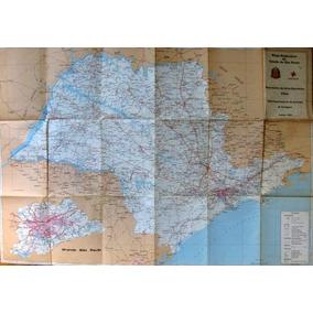 Mapa Rodoviário Do Estado De São Paulo - Der - 1992