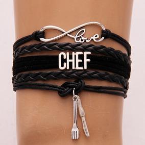Pulsera Love Chef Negra *ajustable*