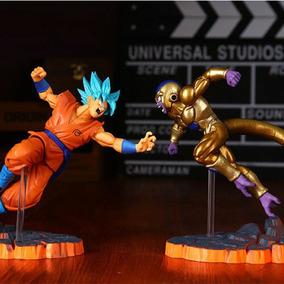 Action Figure Boneco Goku Azul Vs Golden Freeza Dourado Box