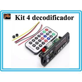 Placa Usb Decodificador Bluetooth Mp3 Fm Aux Pen Drive 12v