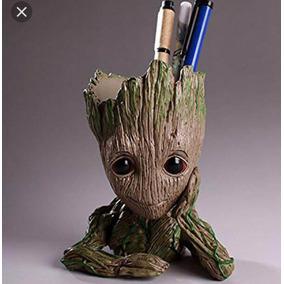 Vaso Homem Arvore Groot Guardiões Da Galaxia Marvel Pvc