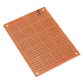 2x Placa Ilhada - Furada De Fenolite 5x7cm Para Projetos