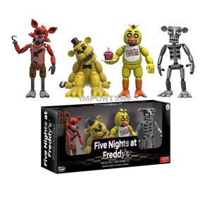 Five Nights At Freddys Funko - 4 Action Figures Na Caixa