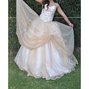 79c82f0ab Vestido De 15 Color Champagne Vestidos Largos Mujer - Vestidos en ...