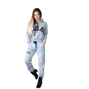 b683f4ddd8419 Kit Atacado 3 Conjunto Moletom Feminino Usa Blusa + Calça