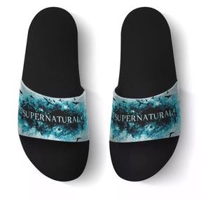 Chinelo Slide Beach Sandalia Serie Supernatural