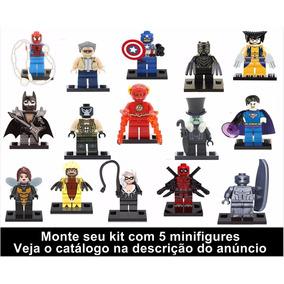 Kit 05 Minifigures Compatível Com Lego