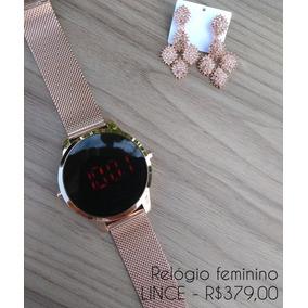 Relógio Feminino Digital Lince - Rosê