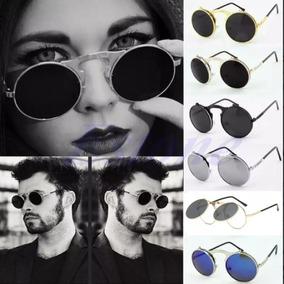 Óculos Armação Grau Sol Redondo Vintage Clip On Lente Dupla 3742788847