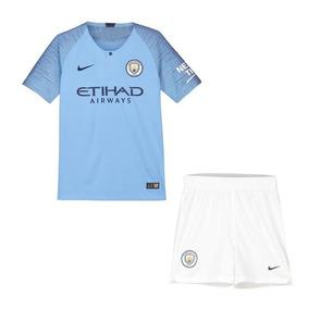 4aeceb92e9 Uniforme Infantil Futebol Manchester City 2018 Encomenda