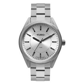 Relógio Euro Prateado Feminino Analógico Eu2035yqa/3k