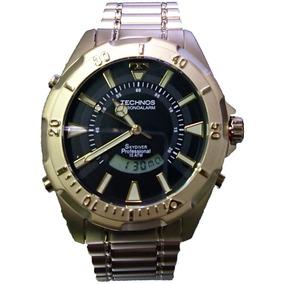 Relógio Technos Skydiver Masculino T205fw 4p Dourado - Relógios no ... 9c07f45b4b
