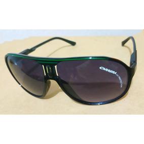 1d212bf0c4 Gafas Tipo Carrera Negro Brillante Verde Logo Incluy Estuche