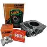 Kit Cilindro Pistão Cg Titan Bros 150 220cc Premium Pino 14