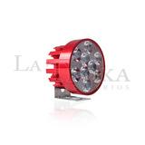 Faro Led 18w Para Moto Color Rojo C/ Estrobo Blanco