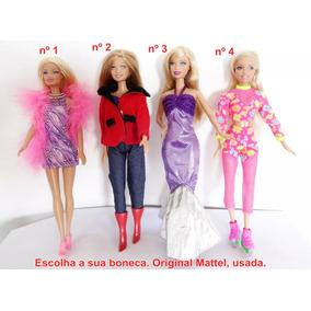 Escolha 1 Boneca Barbie P/ Coleção Pluma Botas Patins Jeans
