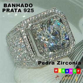 Banhado A Prata Anel Solitario - Anéis com o melhor preço no Mercado ... 2275777560