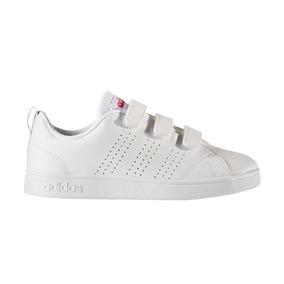 Tenis adidas Advantage Clean Blanco/rosa 17-21 Originales