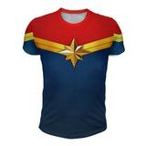 Remera Capitana Marvel Unisex - Full Print