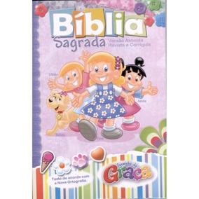 Bíblia Sagrada Turminha Da Graça / Rosa - Menina