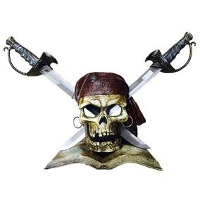 Caveira Piratas Do Caribe Porta Espadas Decoração