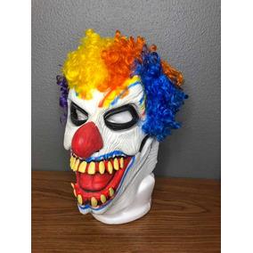 Máscara Payaso Diabólico Completa En Látex Y Pelo Multicolor 7a8feac8b084