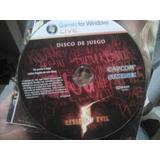 Resident Evil 5 Pc Dvd Solo Disco