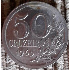Arremate 50 Cruzeiros 1965 - Fc 3g - 2 Cabelo Na Orla