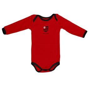 Body Oficial Flamengo Vermelho Manga Longa 1adf17e2ba1bf