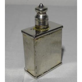 Antiguo Perfumero De Dama, De Cartera, De Metal, Grabado Aps