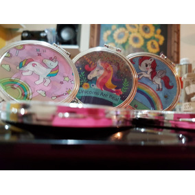 Espejos De Bolsillo Unicornio Recuerdos Xv Años Cumpleaños