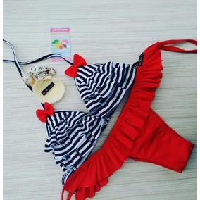 Biquini Retro Vintage Marinheiro - Biquinis Femininas no Mercado ... ba6305092db36