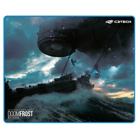 Mouse Pad Gamer C3tech Doom Frost 43 X 35 Cm Borda Costurada