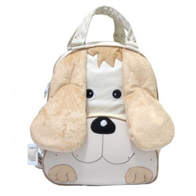 Kit Mochila Infantil Cachorro Grande Azul Bebê Escolar Luxo