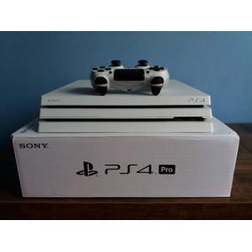 Ps4 Pro Branco 4k Hdr 500gb + 6 Jogos + Ps Plus + 1 Controle
