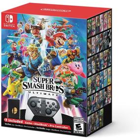 Smash Bros Bundle - Jogo, Pro Controller E Steelbook