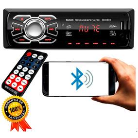 Toca Radio Bluetooth Fm Carro Mp3 Pen Relógio Display Atende