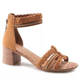 Sandália Dakota Caramelo/ouro Velho/natural