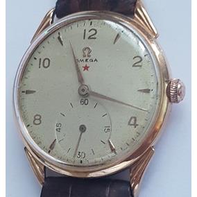 Relógio Omega Estrela Vermelha Em Ouro 18k Lindo E Grande