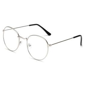 Óculos Redondo Armação Prateada 40 Mm - Óculos no Mercado Livre Brasil 5469f3ce8a