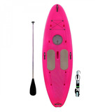 Prancha Stand Up Paddle Com Remo E Leash Star Sup Rosa Ic