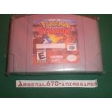 Nintendo 64 Pokemon Stadium Portada Restaurada B N64