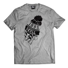 59febb3cab Camiseta Caveira 1986 Camisa Hip Hop Oversized Skull Swag