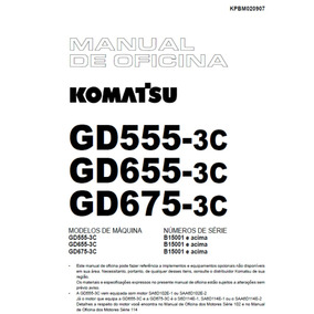 Manual Oficina Komatsu Gd-555/655/675