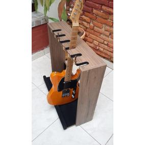 Suporte Guitarras 6 Lugares De Chão Com Travas