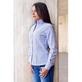 Camisa Oxford Nacional Dotación Mujer Clásica Botón Down