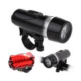 Lanterna Farol + Pisca Alerta Kit Iluminação Bike Bicicleta