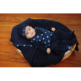 Kit Saída Maternidade Bebe Menino Príncipe Marinho -