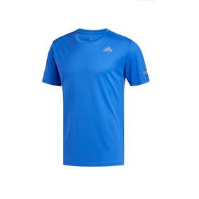 Playera adidas Hombre Run Correr Train Gym Sport Azul Cómoda