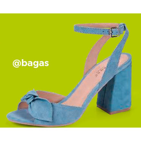 Zapatillas Abiertas Tacón Cuadrado Modelo Bagas Footwear 134